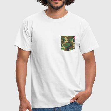 Woodland Camo Patch - Men's T-Shirt