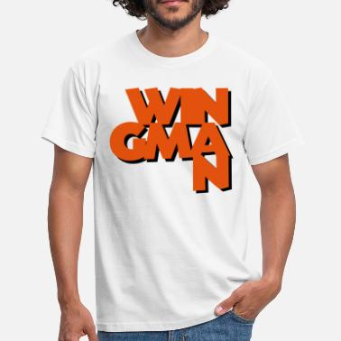 Wingman wingman coolest text logo copy - Men's T-Shirt