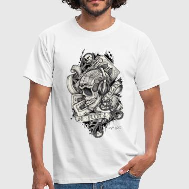 Tribal Skull Ladies 80's skull - Männer T-Shirt