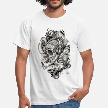 Tattoo Style Ladies 80's skull - Männer T-Shirt