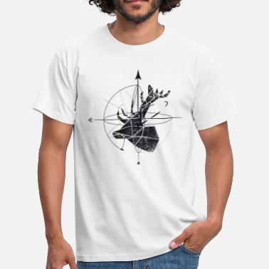 Black And White Collection Deer geometry - Herre-T-shirt