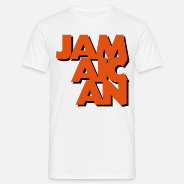 Jamaican jamaican coolest text logo copy - Men's T-Shirt