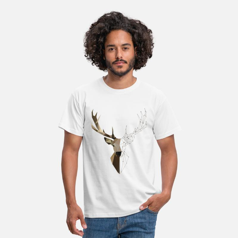 Forest T-Shirts - Deer Geometric - Men's T-Shirt white