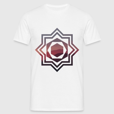 Geometric Hills - Men's T-Shirt