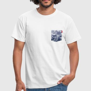 Blue Camo Pocket Patch - Men's T-Shirt