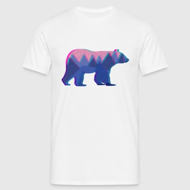 3D Mountain Bear - Men's T-Shirt