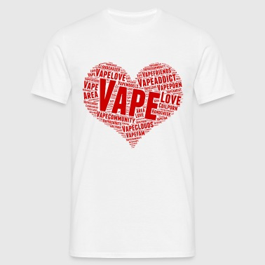 vape love - red - Mannen T-shirt