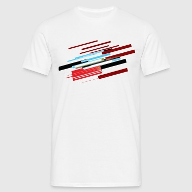 Multi coloured vectors - Men's T-Shirt