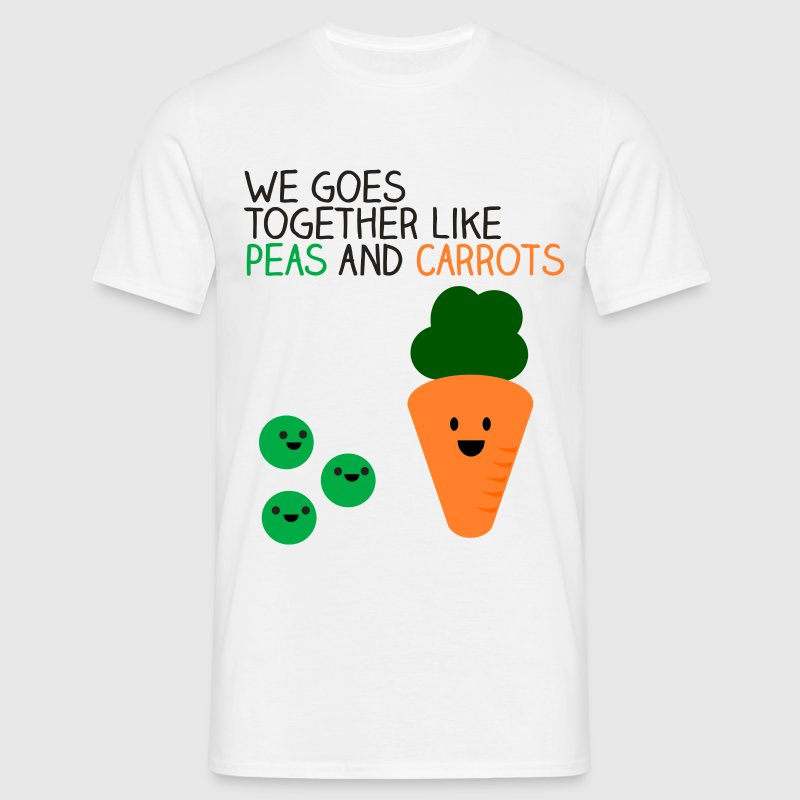 Peas and Carrots - Men's T-Shirt