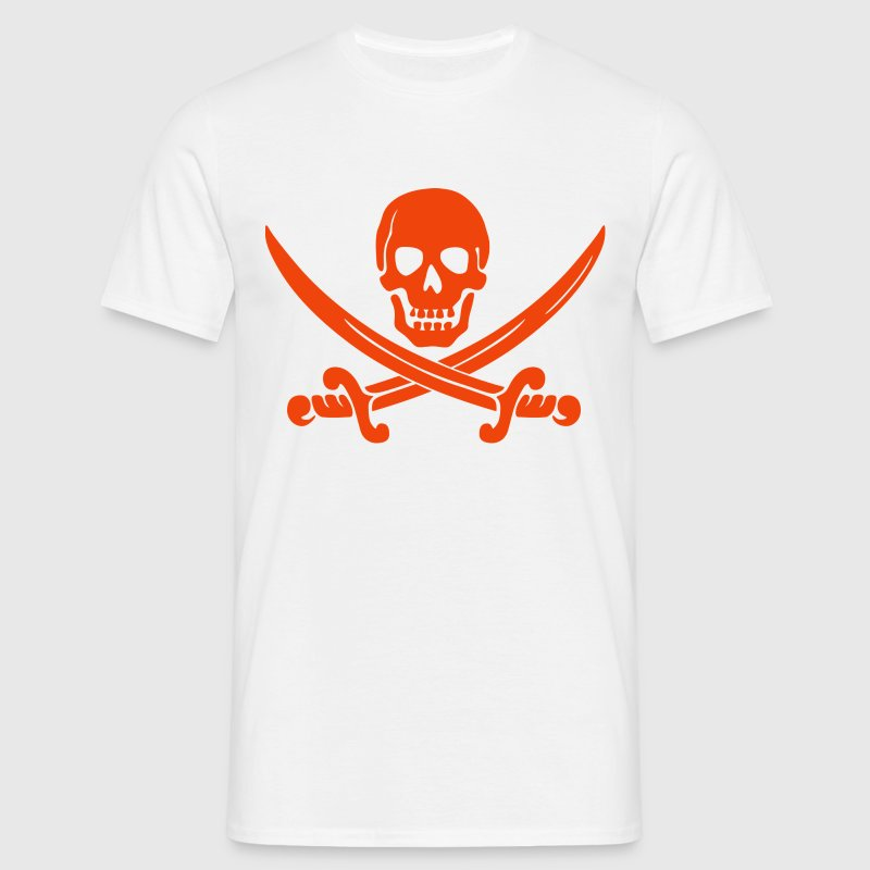 Pirate Design Skull and Sword - Men's T-Shirt