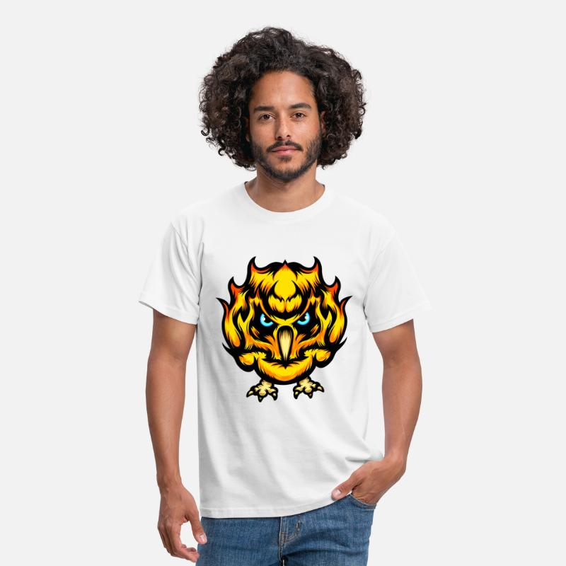 Angry T-Shirts - Fire Chick - Men's T-Shirt white