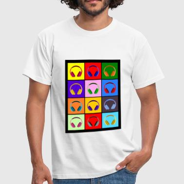 Pop Art Kopfhörer; Pop Art Headphones - Männer T-Shirt