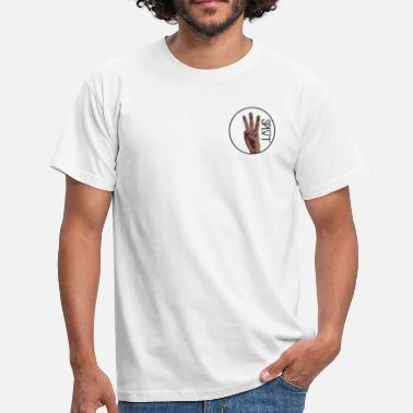Small Plain Mens Split Skateboarding Small Logo T-Shirt - Men's T-Shirt