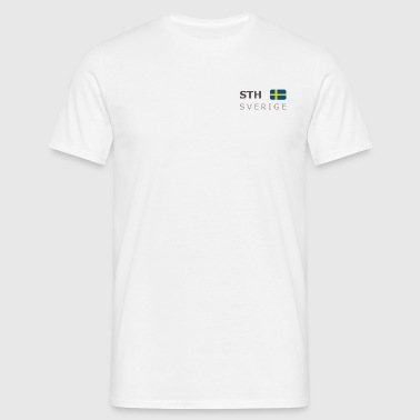 STH SVERIGE dark-lettered 400 dpi - Men's T-Shirt