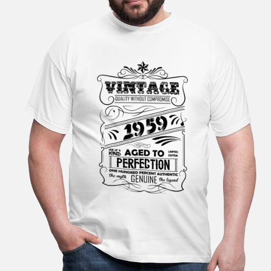 b1e96f5a3 Vintage Aged To Perfection 1959 Men's T-Shirt   Spreadshirt