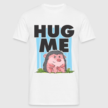 HUG ME CUTE HEDGEHOG - T-shirt herr