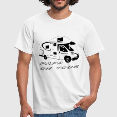 Motorhome Papa on tour - Men's T-Shirt