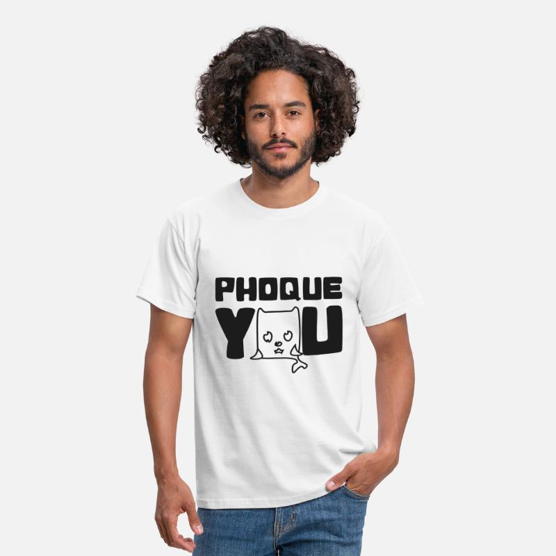 France T-shirts - France Humour fuck you phoque you N - T-shirt Homme blanc