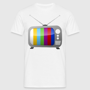Test pattern on TV  - Men's T-Shirt