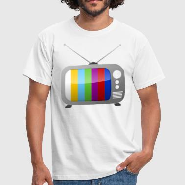 Testpatroon op TV  - Mannen T-shirt
