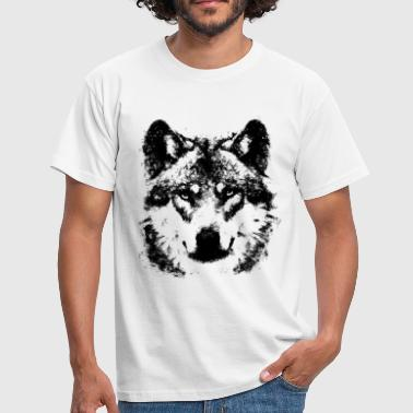 loup Aquarell - T-shirt Homme