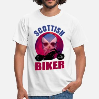 Scottish Biker Scottish Biker Skull Chop - Men's T-Shirt