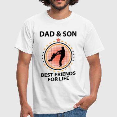Dad And Son Best Friends For Life - Men's T-Shirt