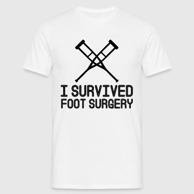 I Survived Foot Surgery - Men's T-Shirt