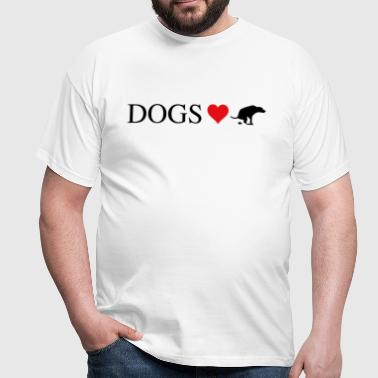 dogs love to shit - Männer T-Shirt