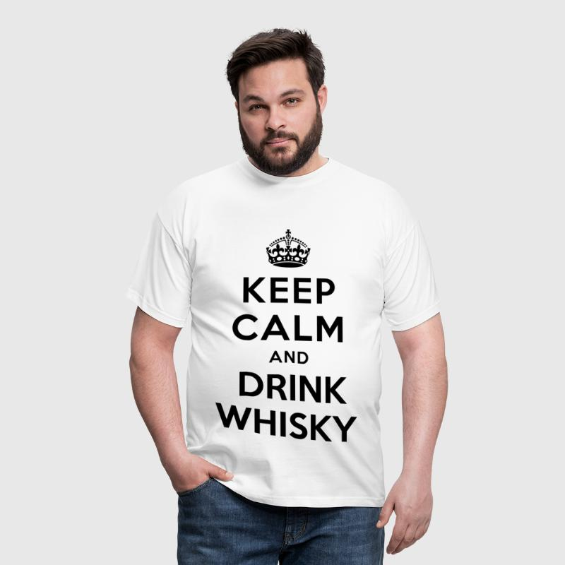 keep calm and drink whiskey - Men's T-Shirt