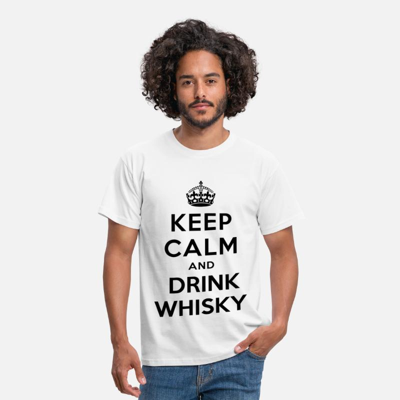 Whiskey T-Shirts - keep calm and drink whisky - Men's T-Shirt white