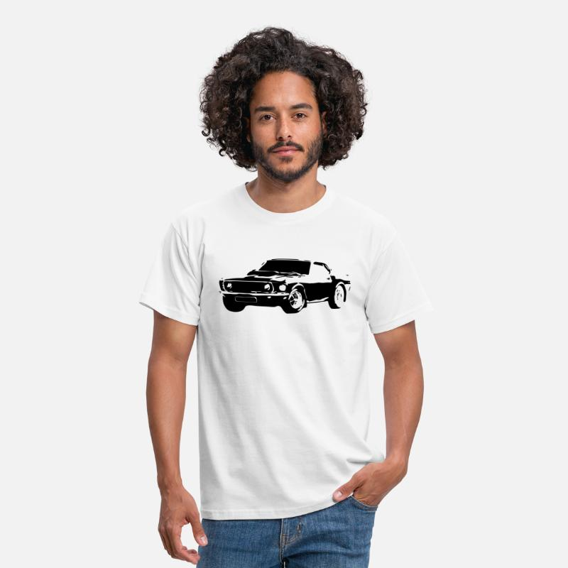 Vintage T-Shirts - Mustang - Mannen T-shirt wit