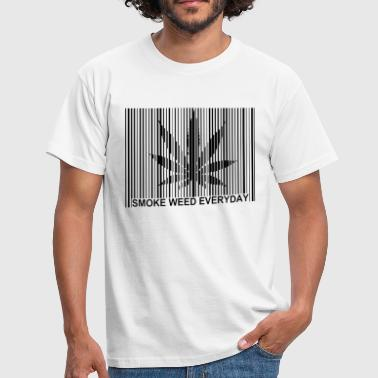 code barre smoke weed - T-shirt Homme
