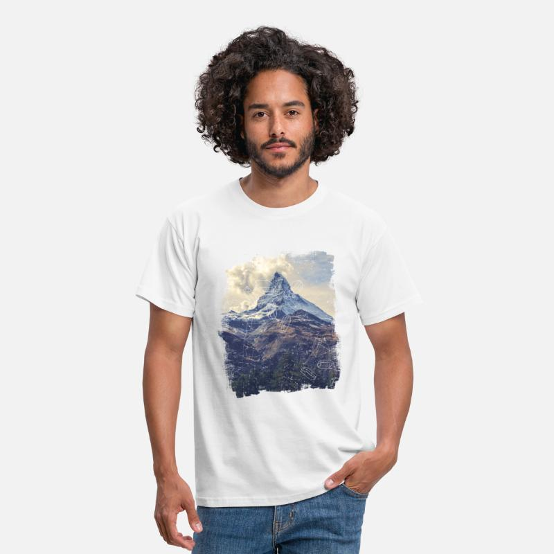 Collection T-Shirts - Mountains & Diamonds - Men's T-Shirt white