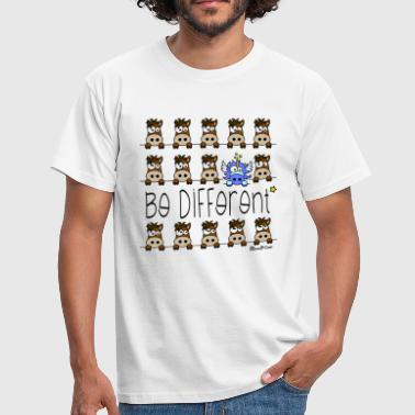 Licorne Bleu - Be Different - T-shirt Homme
