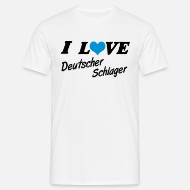 I Love Party I love Schlager Party - Männer T-Shirt