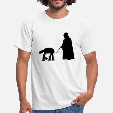 Chewbacca Darth Vader with pet AT-AT (Star Wars) - Men's T-Shirt
