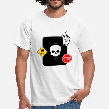 Geeklyshirts THE END SKULL - Men's T-Shirt