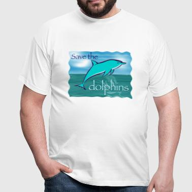 save the dolphin - Men's T-Shirt