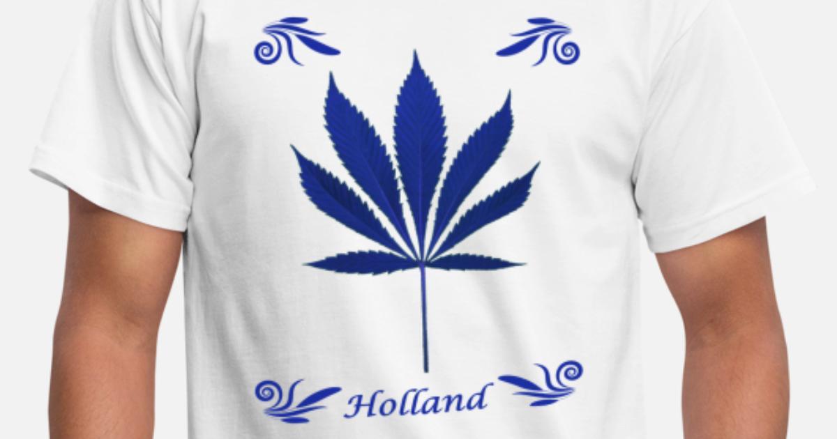 9066c3b13a09a7 Delfts blauw wiet Mannen T-shirt