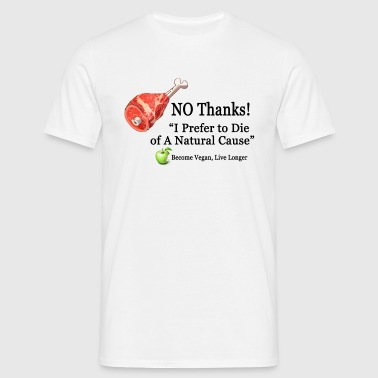 NO Meat! - Men's T-Shirt