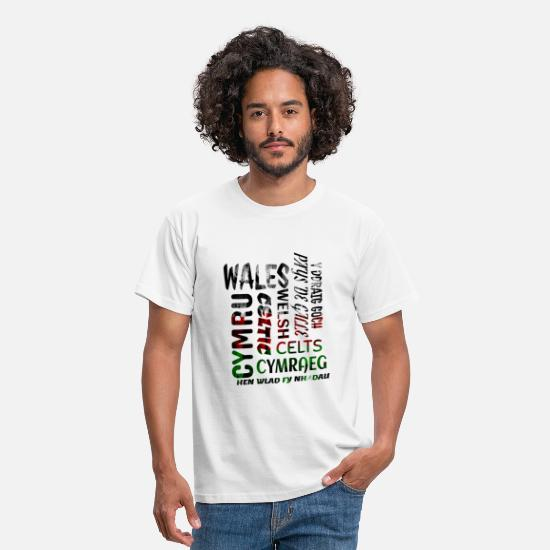 Rugby T-Shirts - Wales, Welsh and proud - Men's T-Shirt white