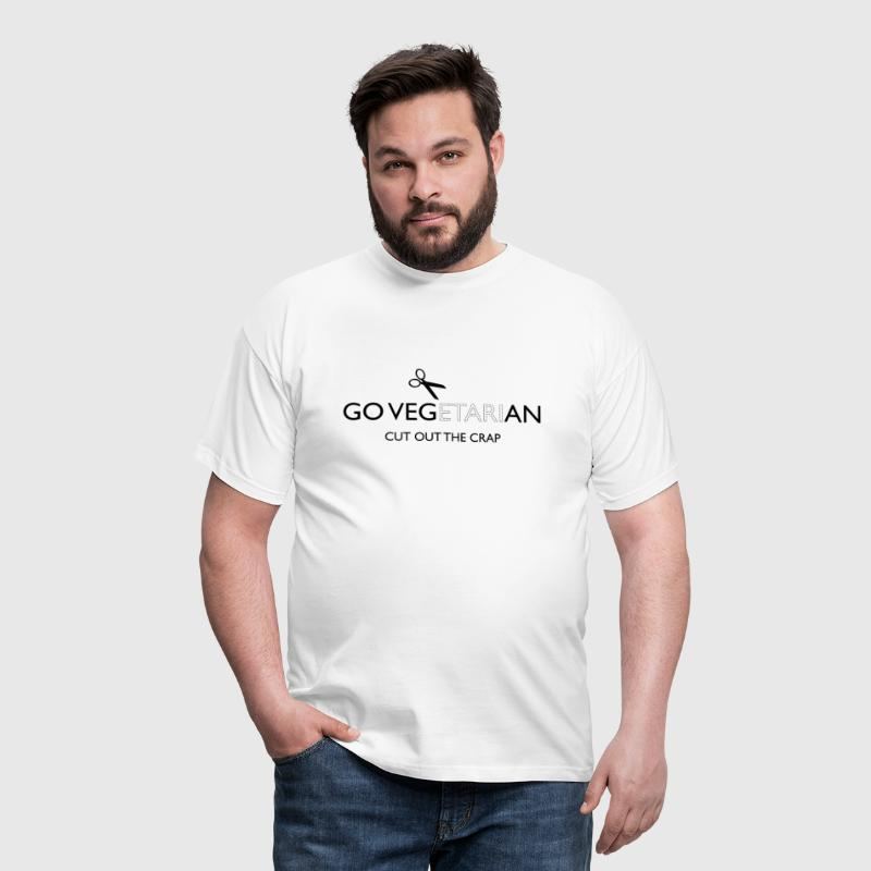 Go Vegan cut out the crap - Men's T-Shirt
