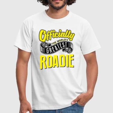 Officially greatest roadie worlds - Men's T-Shirt