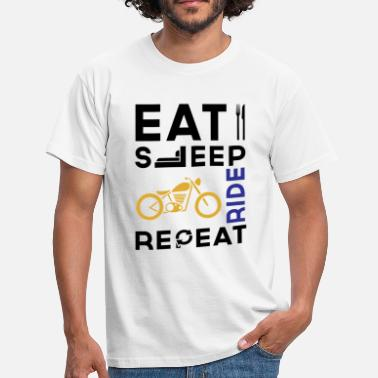 Ride Eat Sleep Ride Repeat - Men's T-Shirt