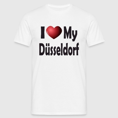 I Love My Düsseldorf - Men's T-Shirt