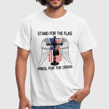 Bbc Stand For The Flag Kneel For The Cross - Men's T-Shirt