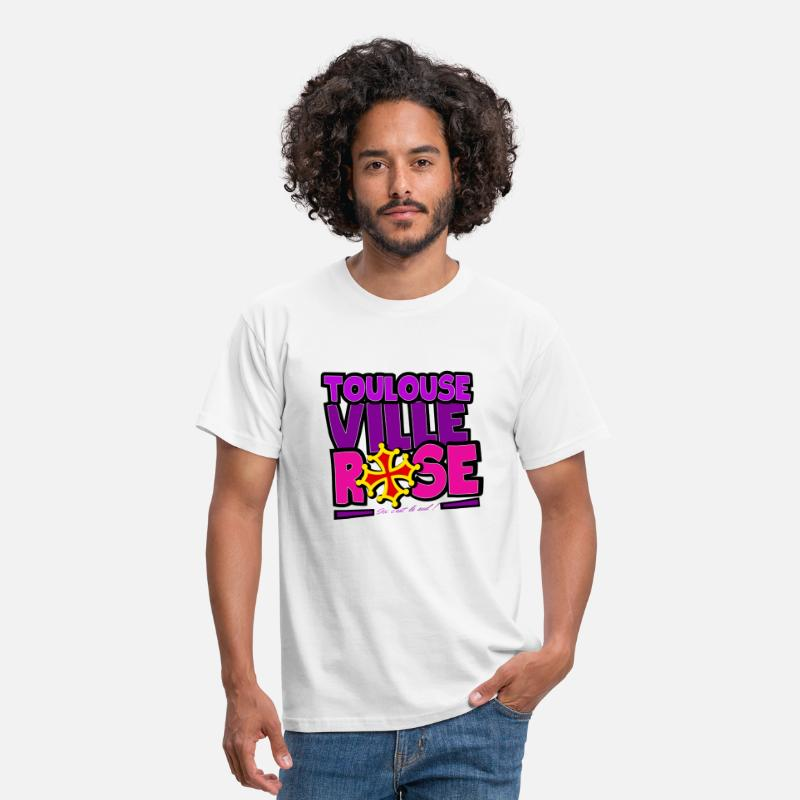 Toulouse T-shirts - Toulouse - Ville rose - T-shirt Homme blanc
