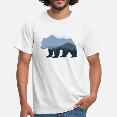 Mountain Bear Forest Bear - Men's T-Shirt