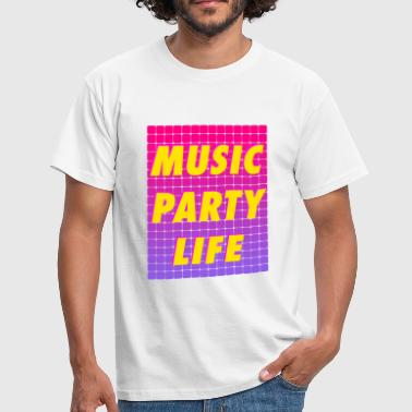 The Chainsmokers MUSIC PARTY LIFE - Men's T-Shirt